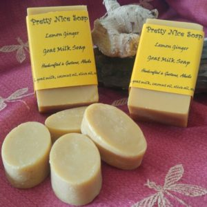 Lemon Ginger with small soaps in front